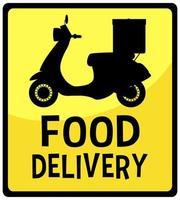 señal de entrega de comida vector