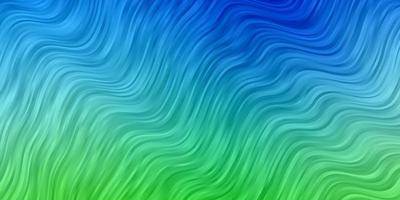 Blue and green pattern with curved lines.