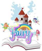 Fairy logo with little fairies