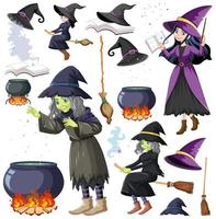 Set of wizard or witches objects