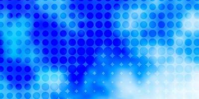 Blue background with circles.