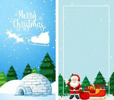 Background templates with Christmas theme vector