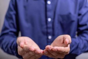 Hands of a businessman photo