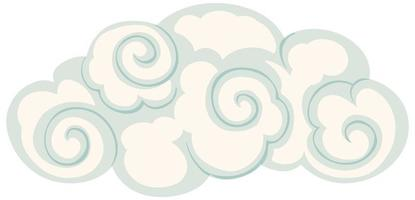 Isolated cloud chinese style vector