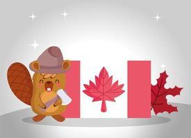 Castor canadiense para la celebración del día de Canadá