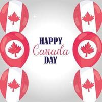 feliz día de canadá celebración banner vector