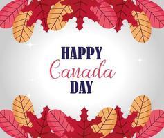feliz día de canadá celebración banner