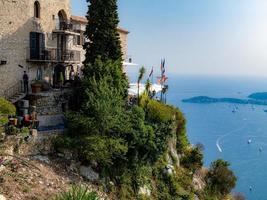 Nice, France, 2020 - View of the Mediterranean Sea from the village of Eze photo