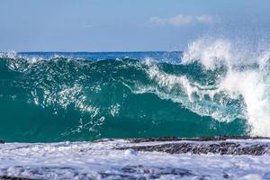 Blue ocean waves photo