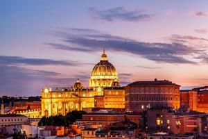 Rome, Italy, 2020 - St. Peter's Basilica at sunset photo
