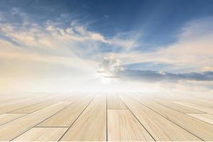 Sky background with floor