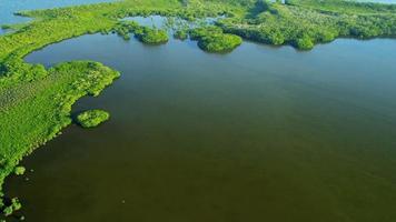 Vue aérienne montrant les écosystèmes, le sud de la Floride