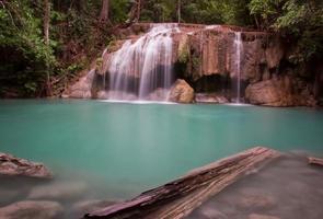 Erawan waterfall asia thailand