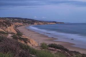 Night view of Crystal Cove beach