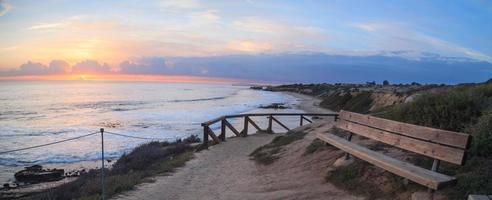 Sunset view of Crystal Cove Beach