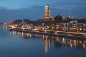 Deventer city in the night photo