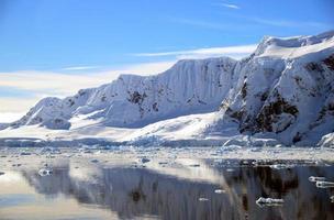 snowy peninsula in antarctica photo