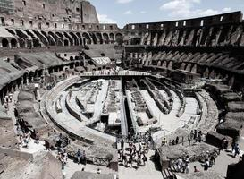Rome, Italy, 2020 - People touring the Colosseum during the day photo