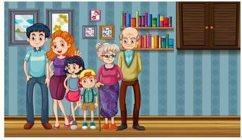 Scene with people in home vector
