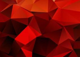 Fiery themed low poly design background vector