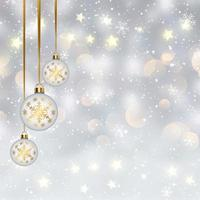 Christmas hanging bauble background