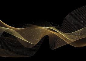 Fondo de ondas de oro brillante vector
