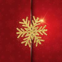 Christmas background with glittery snowflake design