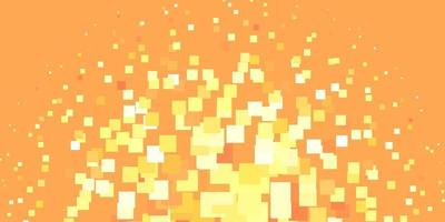 Orange and yellow background with rectangles.