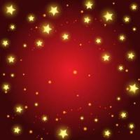 Christmas background with golden stars design vector