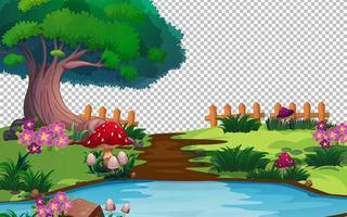 Fairy garden theme vector