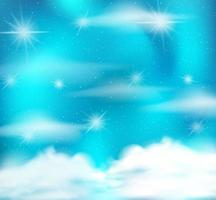 Fondo de cielo de brillo azul claro abstracto vector