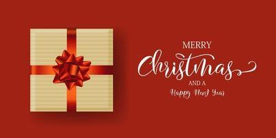 diseño de banner de regalo de navidad vector