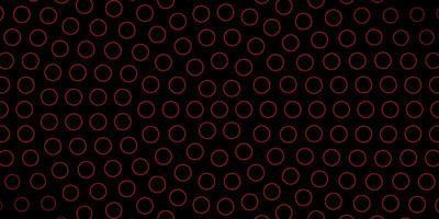 fondo oscuro con círculos rojos delineados.