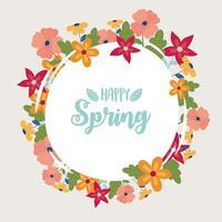 Happy Spring celebration label vector