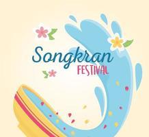celebración del festival songkran