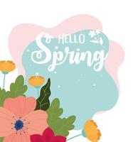 Hello Spring celebration banner vector
