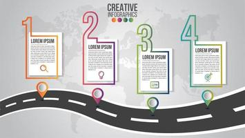 Infographic, modern timeline template for business vector