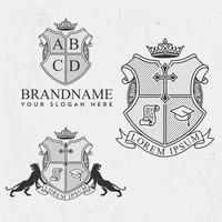 Royal crest design set vector