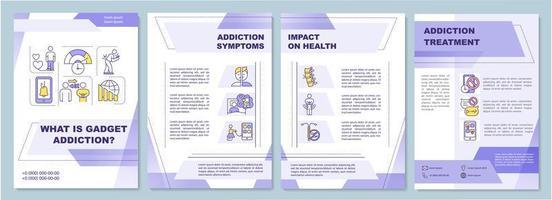Gadget addiction symptoms, brochure template
