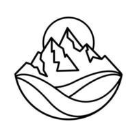 Simple mountain landscape design