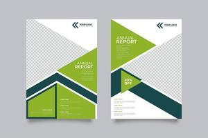 Corporate Geometric Shape Flyer Template vector