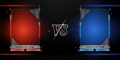 Shiny red and blue versus frame design vector