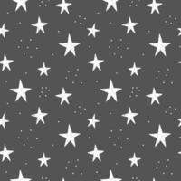 Hand drawn stars pattern vector