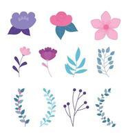 Cute flower set