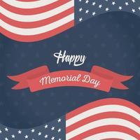 bandera americana para la celebración del día conmemorativo
