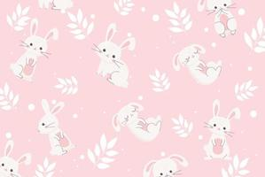 Cute Easter bunnies pattern