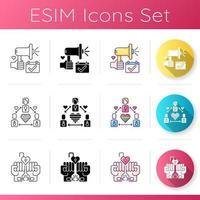 conjunto de iconos de elección de socio
