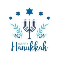 feliz hanukkah diseño simple