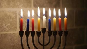 velas de Hanukkah, feriado judaico