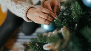 decoração da árvore de natal
